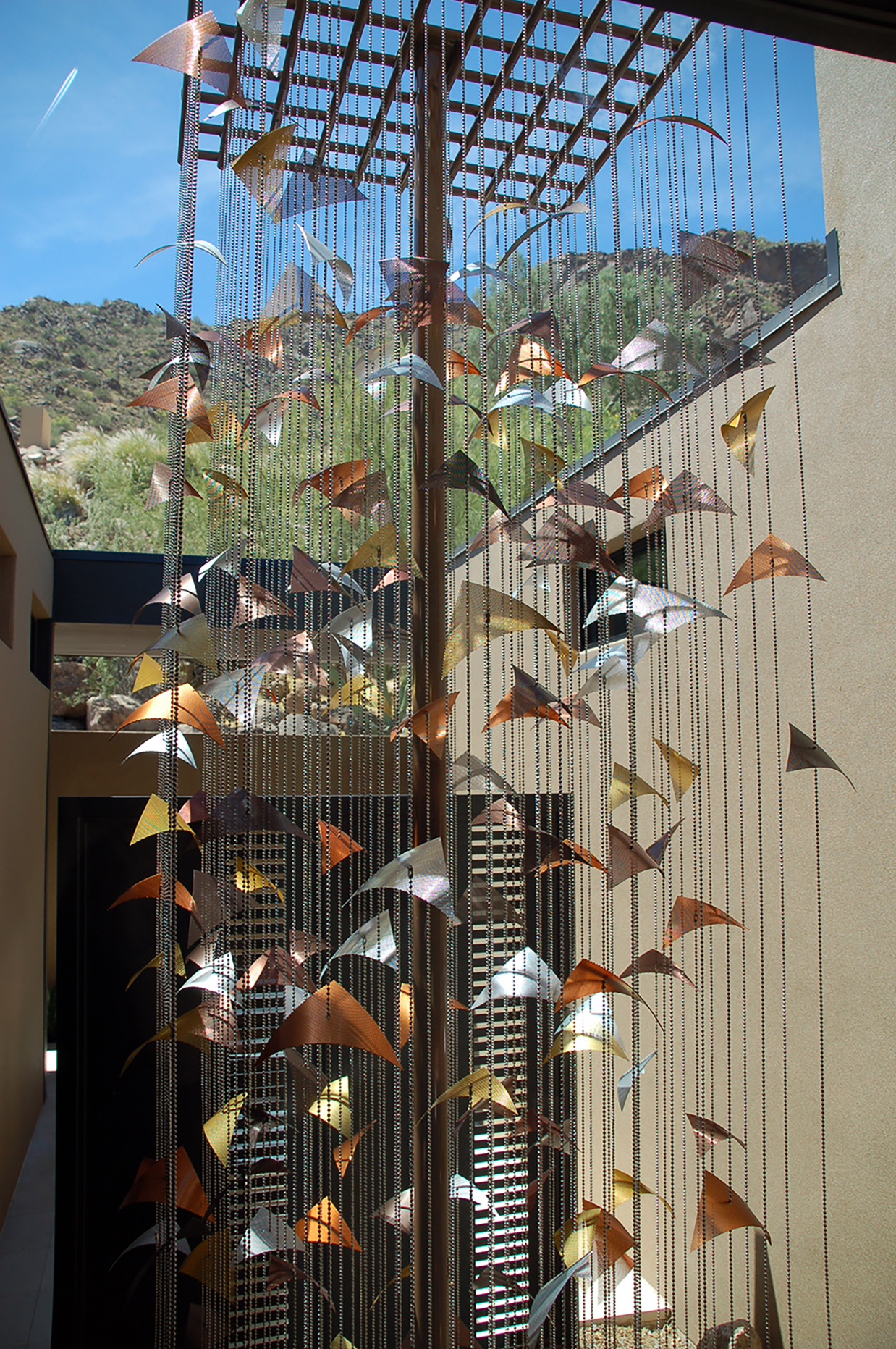 Residential sculpture by Talley Fisher in the Arizona desert