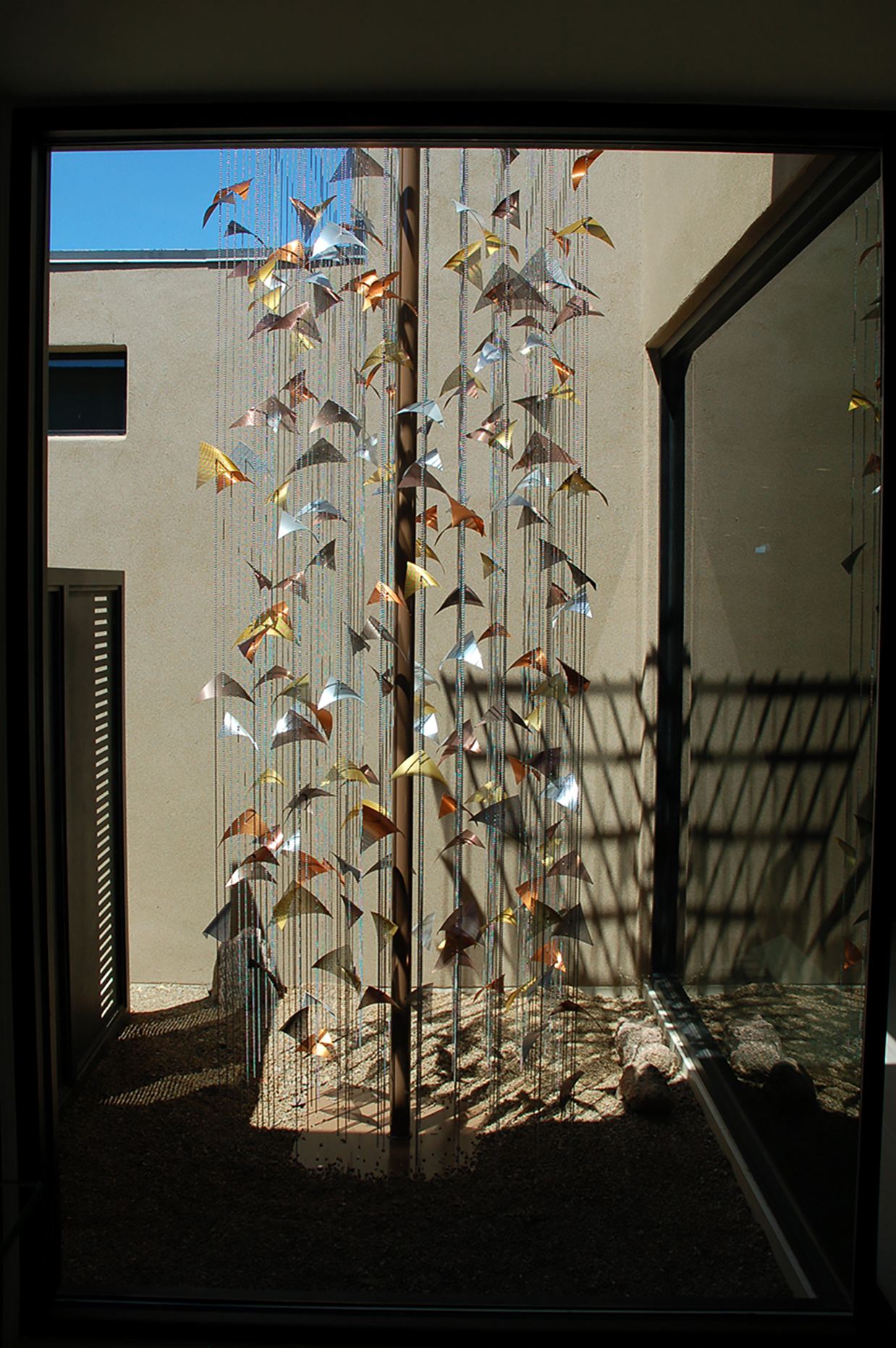 Residential suspended sculpture by Talley Fisher in Arizona