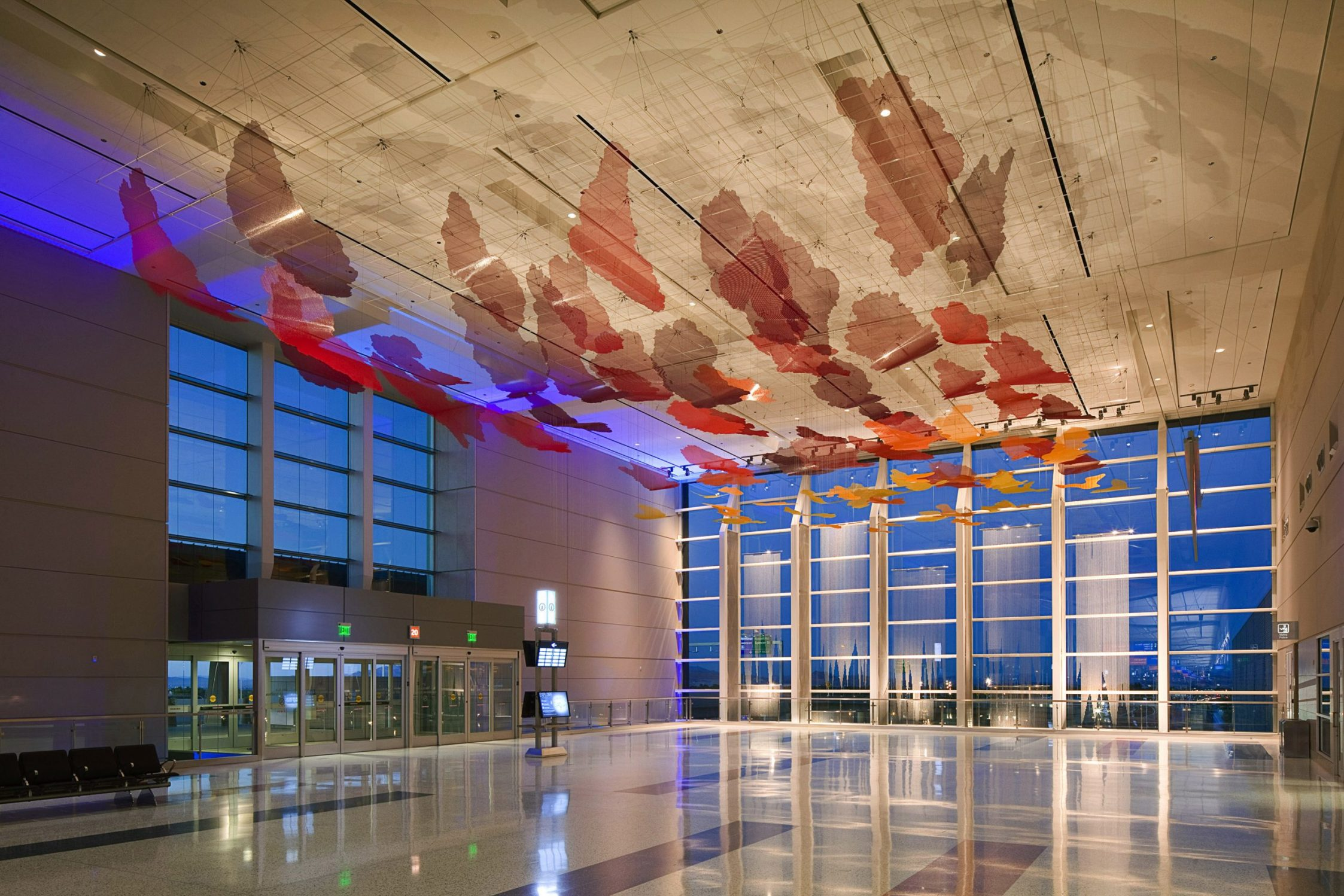 Desert Sunrise suspended sculpture in McCarran International Airport.