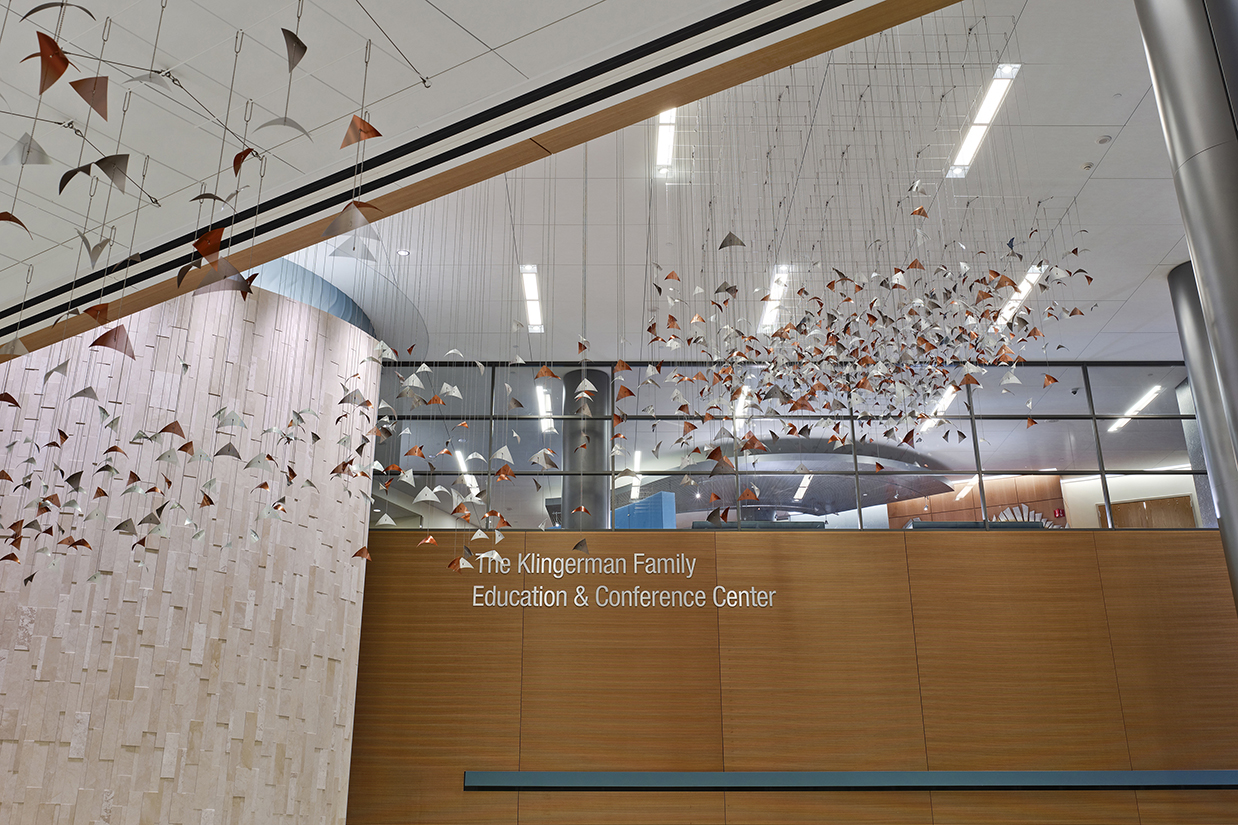 Susquehanna Reverie aerial sculpture by Talley Fisher in the patient tower of UPMC Susquehanna