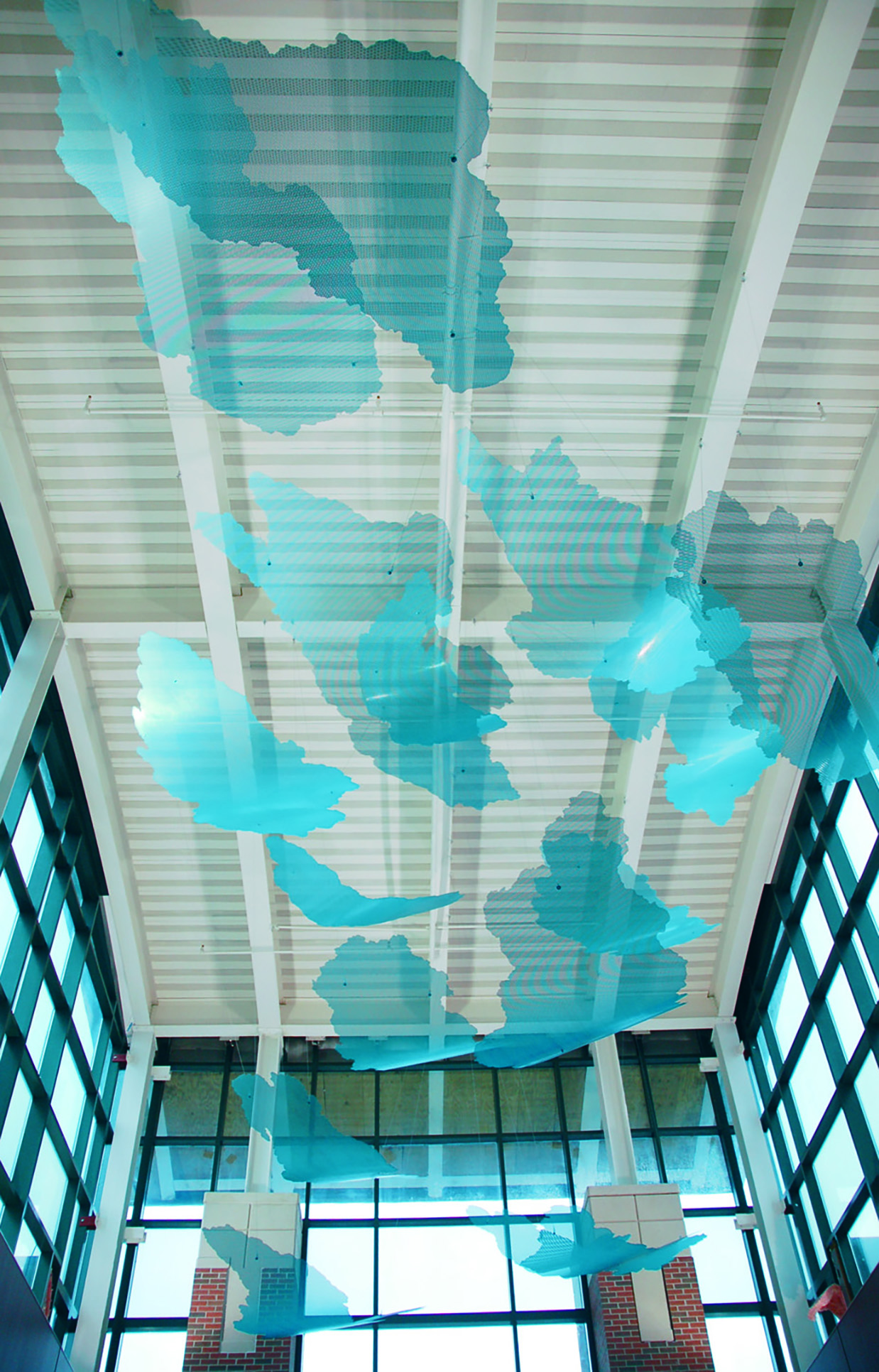 Dreamscape suspended sculpture by Talley and Rob Fisher at Reid Hospital