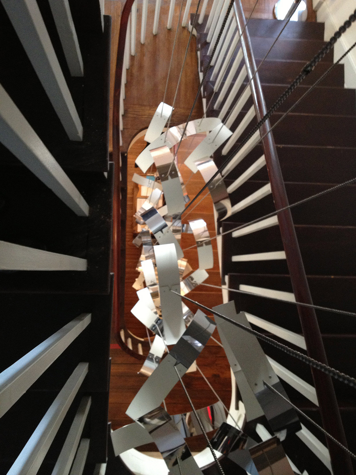 Talley Fisher's See-Scape small suspended sculpture in Bellefonte Art Museum