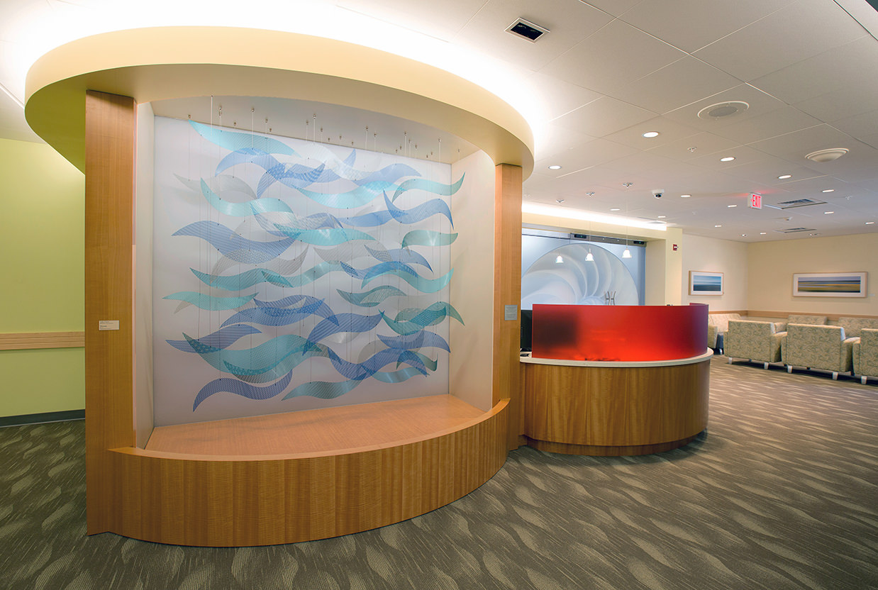 Talley Fisher's Sound Waves niche sculpture in Yale – New Haven Children's Hospital NICU