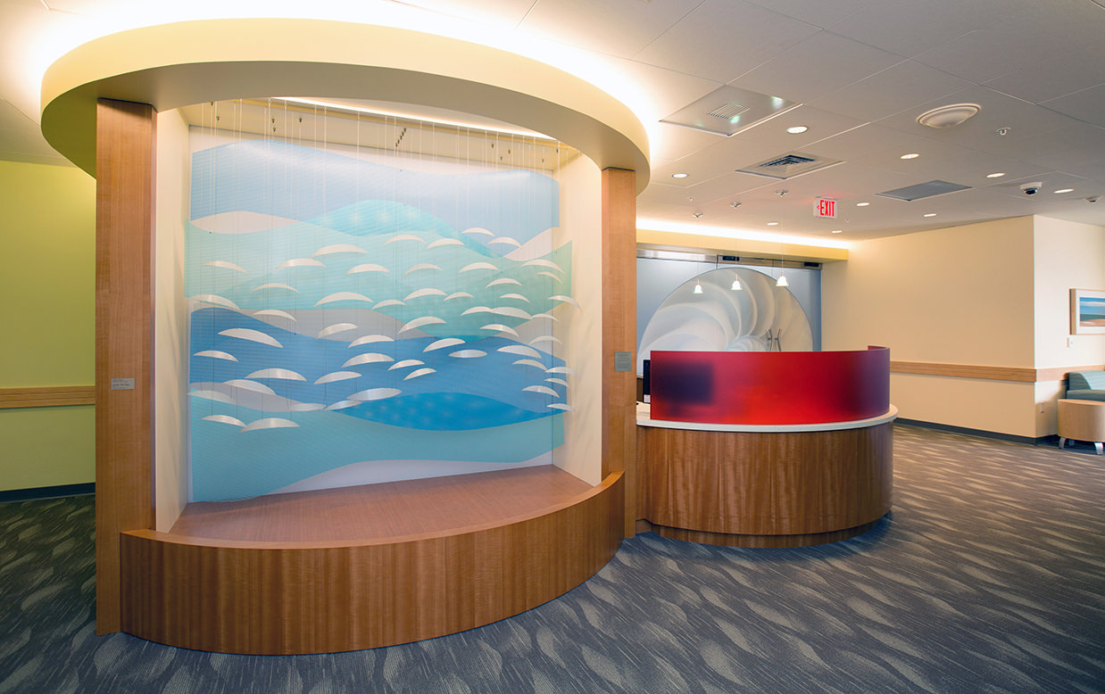 Reception niche sculpture, Under the Sea, by Talley Fisher at Yale – New Haven Children's Hospital NICU